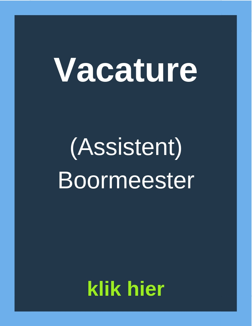 Vacature (assistent) Boormeester